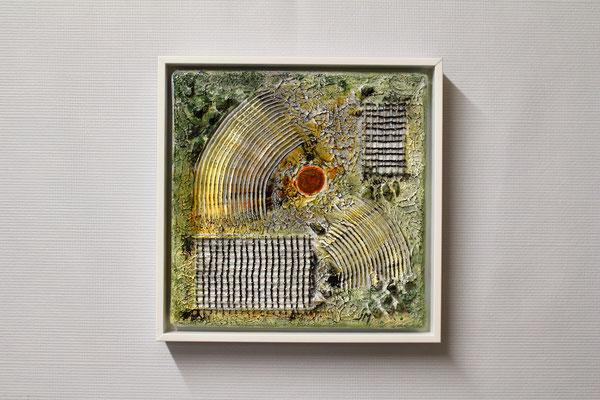 Abstrakte Fantasie (20 x 20, mit Rahmen, 160 CHF)
