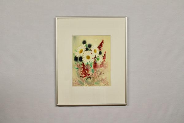 Blumen 1 (40 x 50, mit Rahmen, 420 CHF)