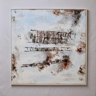 Winter im Ried (90 x 90, mit Rahmen, 1'100 CHF)