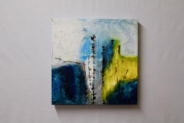 Blaue Fantasie (40 x 40, ohne Rahmen, 420 CHF)