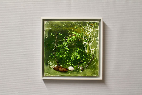 Am Weiher (20 x 20, mit Rahmen, 160 CHF)