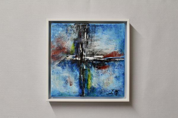 Blaue Fantasie (20 x 20, mit Rahmen, 160 CHF)