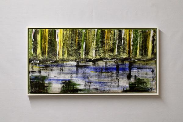 Am Wasser (30 x 60, mit Rahmen, 480 CHF)