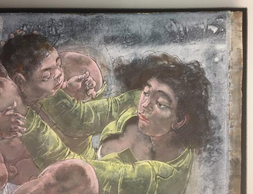 Gemälde von Erni eingelegt in Eisenrahmen