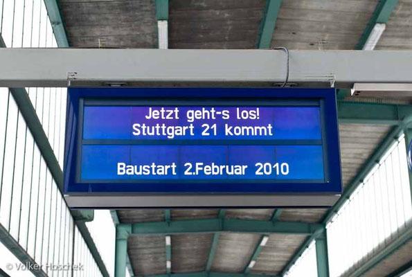 Stuttgart 21 - Symbolischer Baubeginn