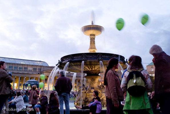 Stuttgart 21 - Protestkundgebung auf dem Stuttgarter Schlossplatz