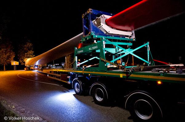 Schwertransport zur Windenergieanlage Dinkelsbühl-Wilburgstetten