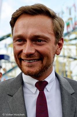 Christian Lindner beim Wasenrundgang