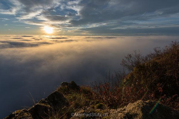 Nebelmeer von der Wasserfluh, Kanton Aargau