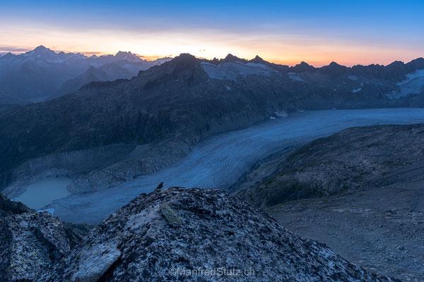 Über dem Rhonegletscher, Klein Furkahorn