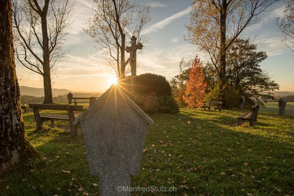 Die Gedenkstätte auf dem Boll von Fislisbach, Kanton Aargau