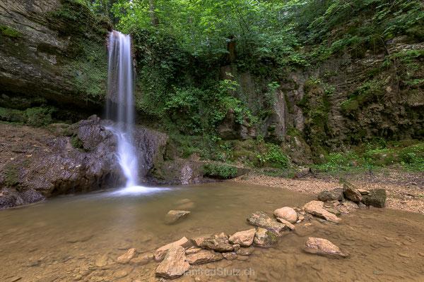 Linner Wasserfall im schönen Jura Park, Kanton Aargau
