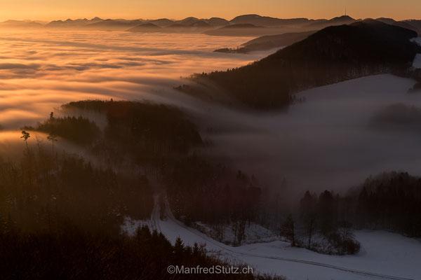 """Eine """"Nebelwelle"""" im Aargauer Jura"""
