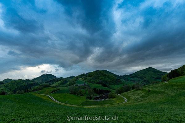 Gewitterstimmung auf der Staffelegg, Kanton Aargau