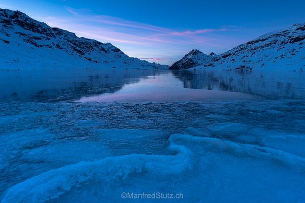 Lago Bianco, zugefroren