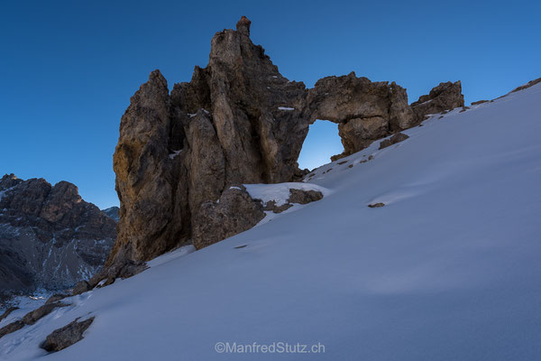 Felsbogen im Val d'Agnel