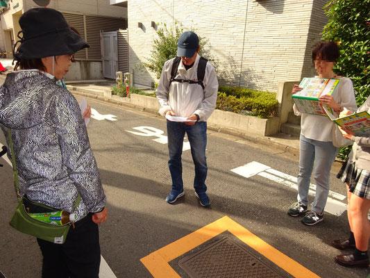 旧栄町通り:消火栓(黄色枠)