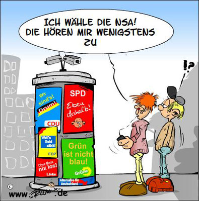 © Trumix – Wahlkampf, Parteien, Verdrossenheit, NSA