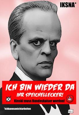 © Uli – Wahlkampf, Kandidat, Kinski, Speichellecker