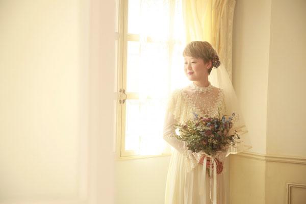 ふんわり光に包まれる花嫁様。