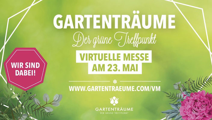 Mai 2020: Pam Jonas X Gartenträume - Virtuelle Messe 23. Mai 2020