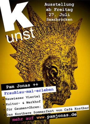 Juli-August 2018, Pam Jonas X FrauBlau-mal-erleben X Nauwieser Viertel Saarbrücken