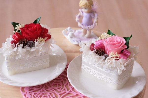 ショートケーキ(レッド、ピンク)