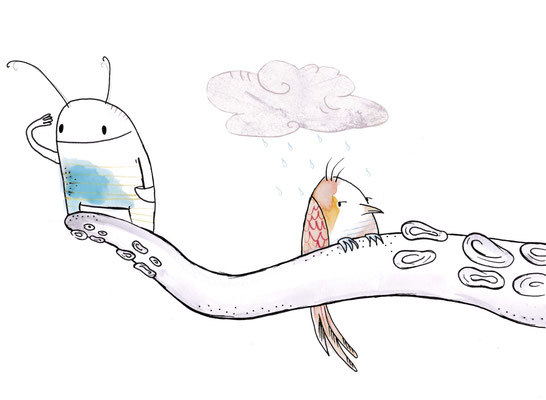 'Kramuris und Moosmännchen' / Wandbilder für das Karikaturmuseum Krems