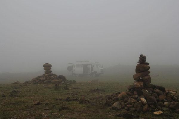 Ohne Nebel wäre die Aussicht bestimmt grandios.