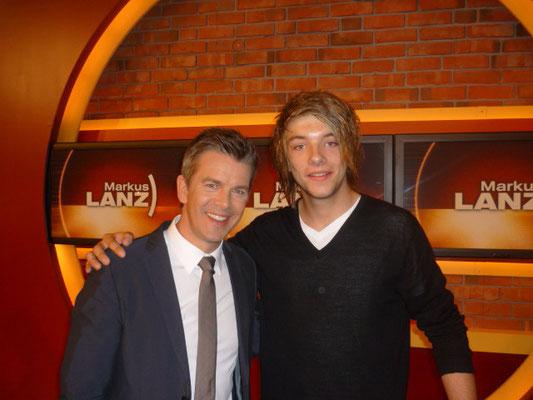 Kevin und Markus Lanz ( TV - Moderator )