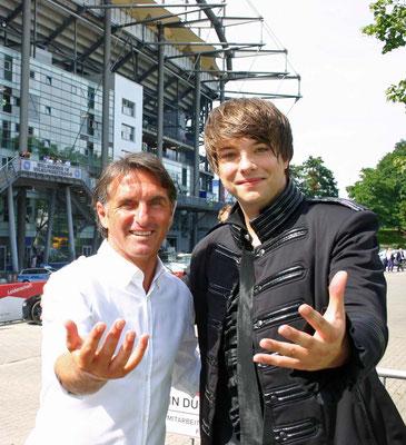 Kevin und Bruno Labbadia ( HSV Trainer )