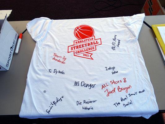 Shirts für die Bürgermeister: unterzeichnet von allen Kapitänen
