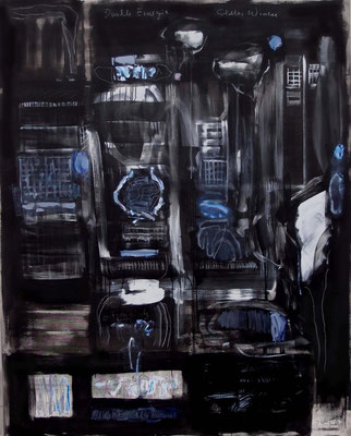 Dark Energy and Silent Knowledge  2014  Öl auf Nessel  200x160cm