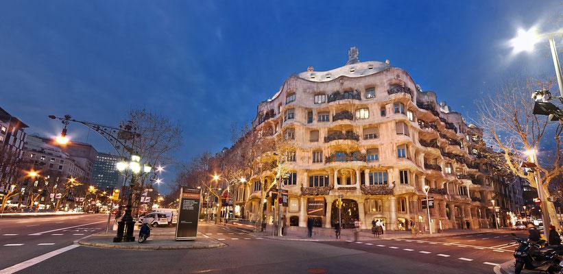 Casa Milá (La Pedrera) del gran arquitecto modernista, Antoni Gaudi