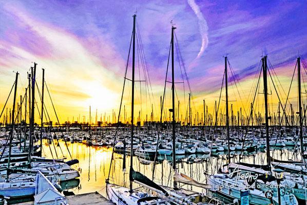 Amanecer en el Port Olímpic. Barcelona