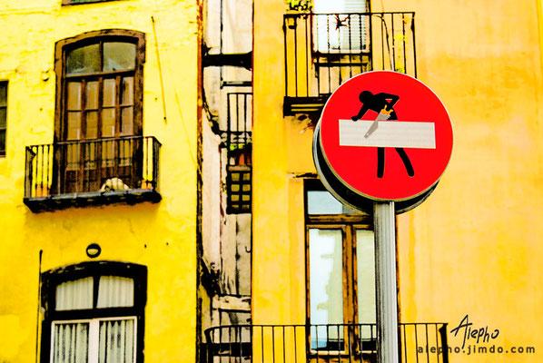 Arte callejero en el Barrio del Born. Barcelona
