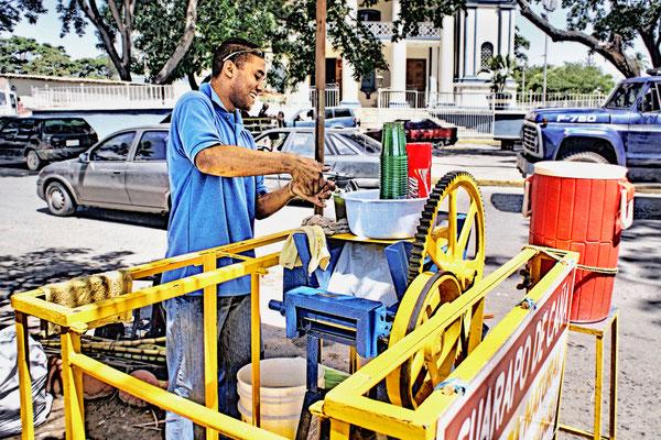 Guarapo de caña de azúcar en Cumaná