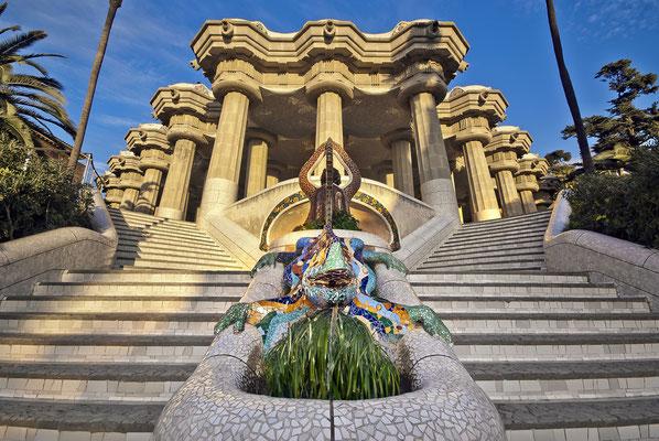 Parc Güell de Gaudi del gran arquitecto modernista, Antoni Gaudi