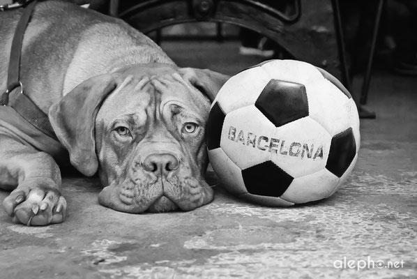 Variación a B/N con pelota de fútbol