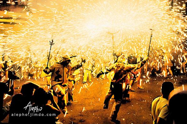 Correfocs de la Fiesta Mayor de Gràcia. Barcelona