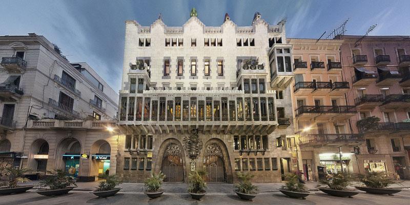 Palau Güell del gran arquitecto modernista, Antoni Gaudi