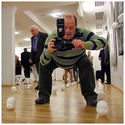 vernissage städtische galerie im kulturzentrum saalbau homburg, foto: peter köcher
