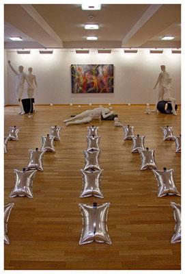 ausstellungsimpression städtische galerie im kulturzentrum saalbau homburg, foto: peter köcher