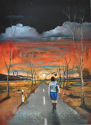 """""""Heimweg"""", Öl auf Leinwand 60 x 80 cm (2017)"""