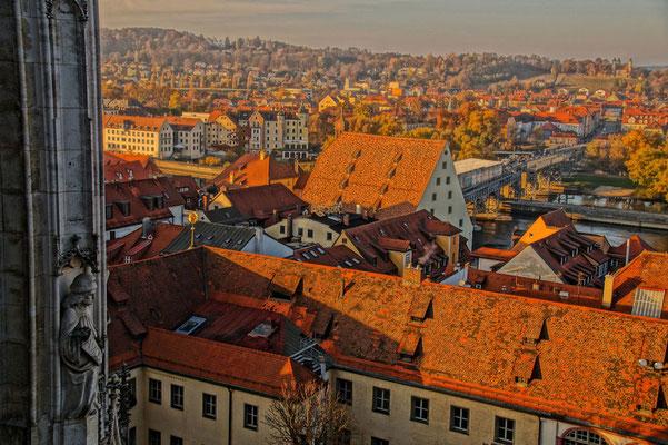 Blick vom Regensburger Dom über die historische Altstadt, Foto: www.pixabay.com