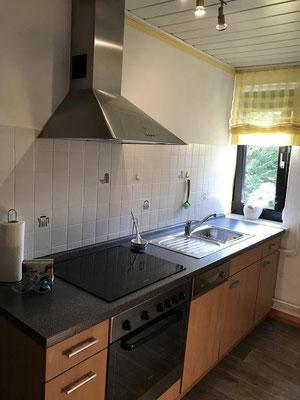 Unsere Ferienwohnung hat eine sehr gut ausgestattete Einbauküche mit Geschirrspüler