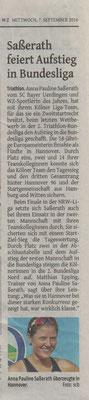 Westdeutsche Zeitung am 07.09.2016