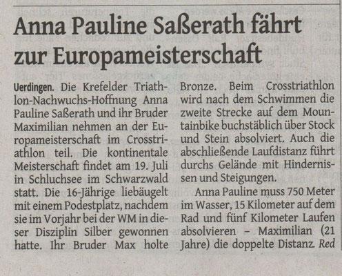 Westdeutsche Zeitung 11.07.2015