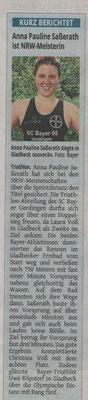 Westdeutsche Zeitung 16.05.2018