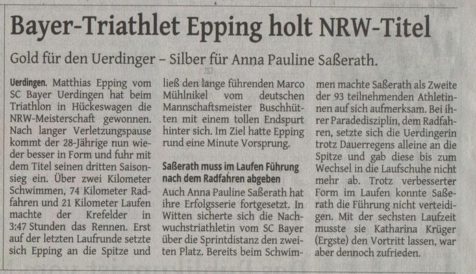 Westdeutsche Zeitung 19.08.2015